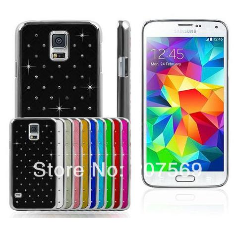 Здесь можно купить  50pcs/lot Newest Luxury Bling Crystal Diamond Starry Full Star Back Cover Case For Samsung Galaxy S5 G900  Телефоны и Телекоммуникации