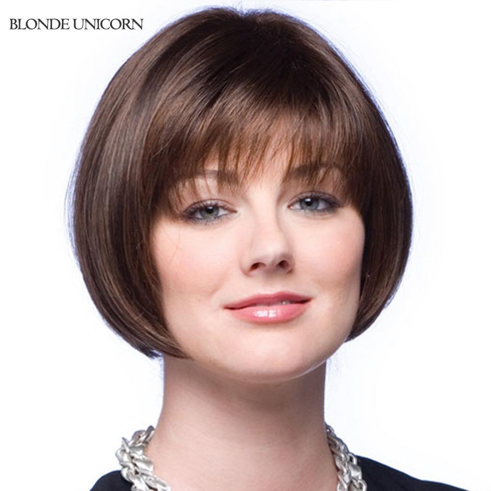 Blonde Unicorn Bob Wigs Short Human Hair Wigs For Women