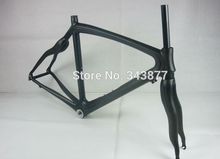 2015 new Full Carbon Fiber Road Bike Frame fixie Fixed Gear Track bike Carbon frame 54cm with free fork pad(China (Mainland))