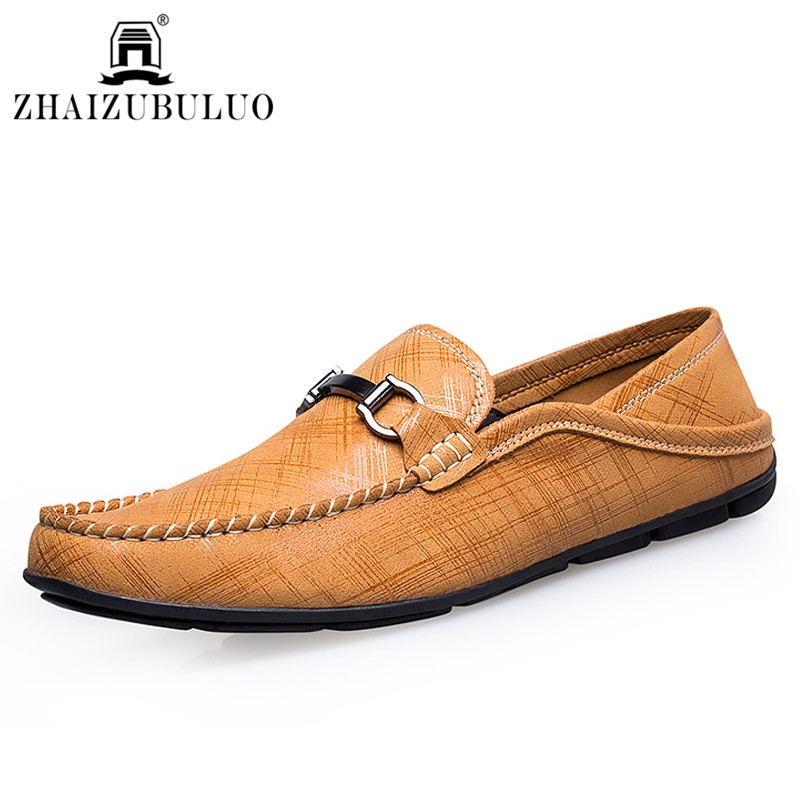 New Style Men Genuine Leather Loafers Slip On Men Comfortable Driving Shoes Moccasins Flats Men Casual Shoes Sapatos Masculinos <br><br>Aliexpress
