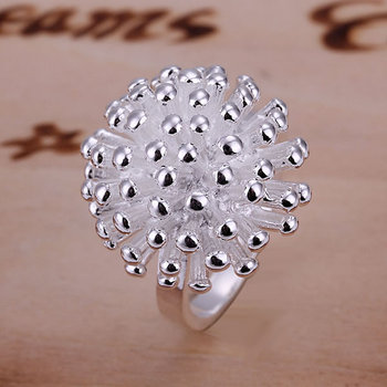 Ring silver plated ring silver fashion jewelry ring fireworks jewelry wholesale free shipping ddjf LR001