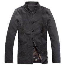 Куртка с драконами для мужчин китайский дракон рубашка мужские китайские куртки крыло chun одежда мандарин воротник костюм TA277(China)