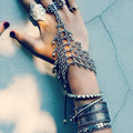 Punk Rock Thick Turkish Silver Bohemian Antalya Power Bracelet Gypsy Beachy Chic Coachella Silver Personality Ethnic