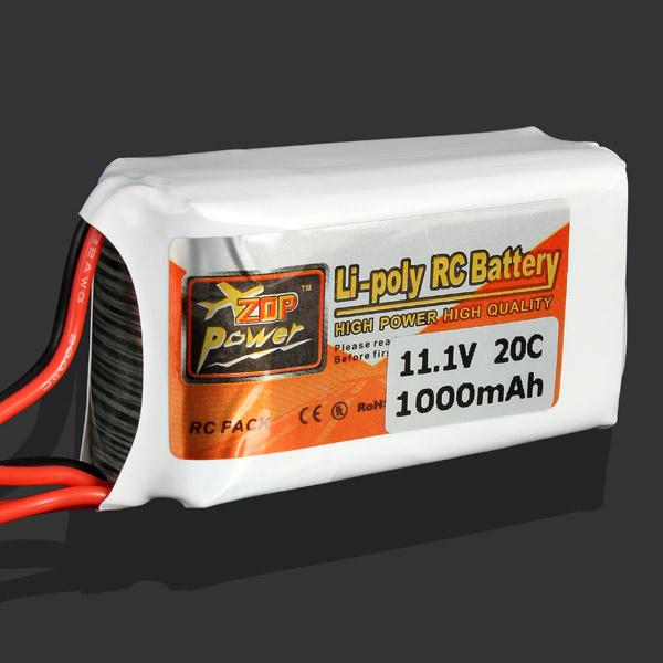Гаджет  ZOP Power 11.1V 1000MAH 20C Lipo Battery JST Plug None Игрушки и Хобби