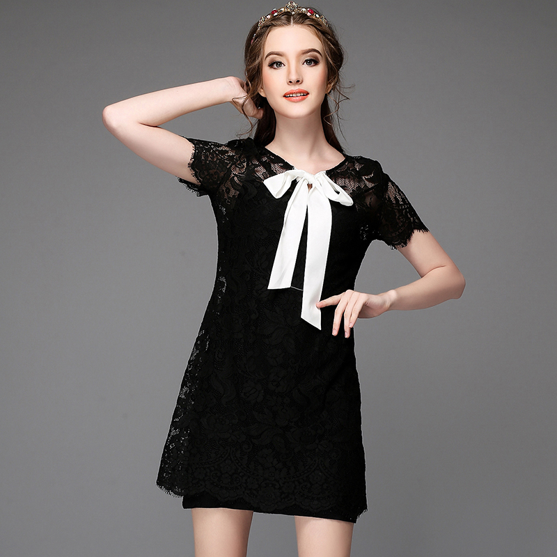 [Good Grade Cloth]2015 Summer Plus Size Brief Dress For Women Clothing,Sexy Cutout Short-sleeve Lace Dree+Denim Vest Twinset(China (Mainland))