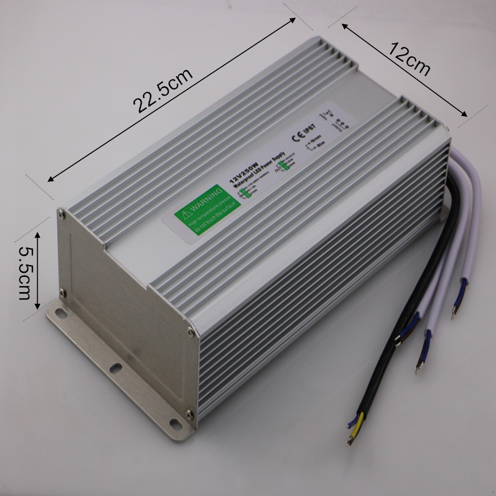 Waterproof DC 12V 250W LED Driver IP67 AC 170-250V Power Supply LED Transformator Switching Power Supply 12V 250W Free Shipping<br><br>Aliexpress