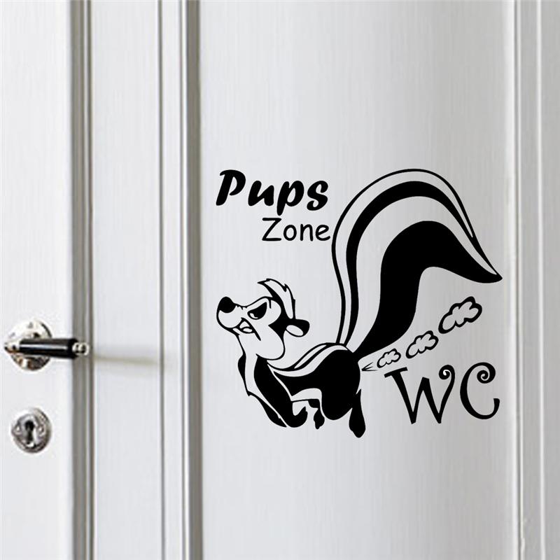 Achetez en gros stickers muraux toilette en ligne des for Decoration porte au pochoir