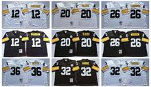Pittsburgh Steelers Terry Bradshaw Rocky Bleier LeVeon Bell Franco Harris Jerome Bettis Throwback for mens camouflage(China (Mainland))