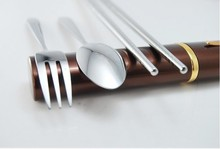 Outdoor products mini multifunctional supplies stainless steel sets portable tableware(China (Mainland))