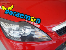 Free shipping 4pcs/lot cartoon Doraemon words personalized sticker engine cover light eyebrow posted car body sticker styling