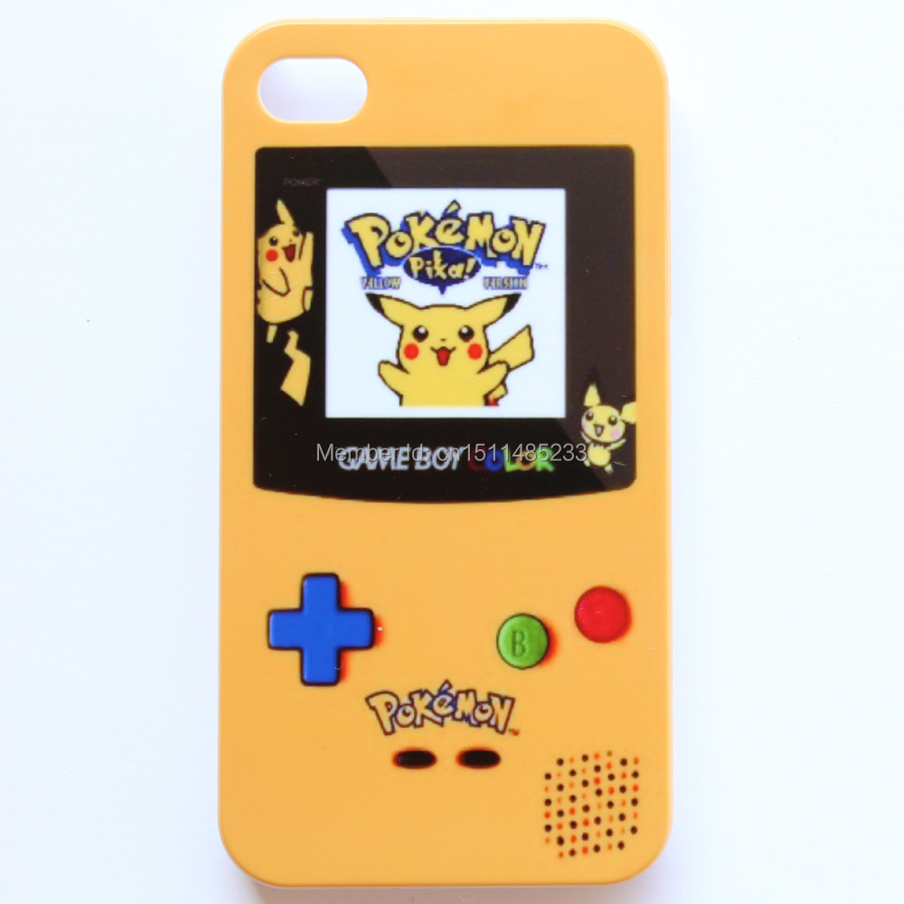 Pokemon GameBoy Game Boy Yellow Pattern Hard Case Cover For Apple iPhone 4 4s #M70(China (Mainland))