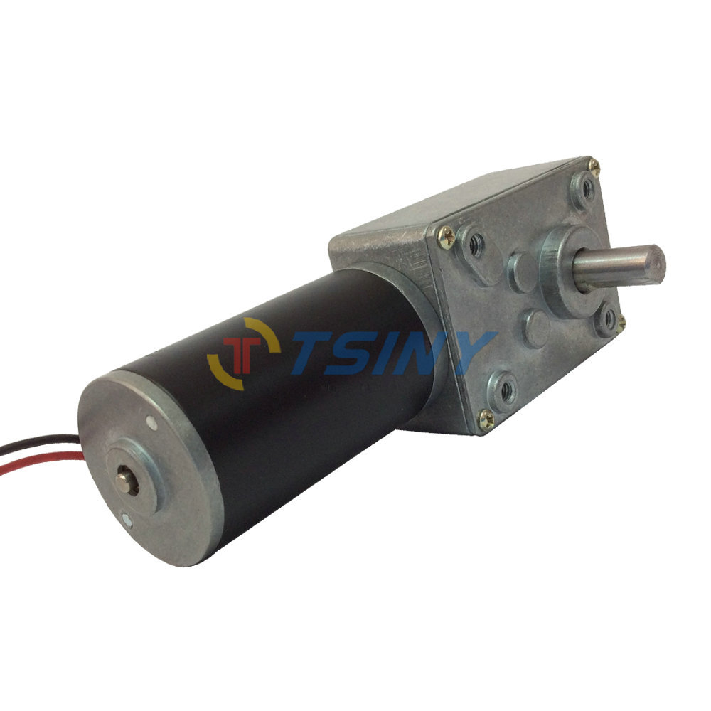 24v small worm gear reduction electric motor for sliding for Electric motor with gear reduction