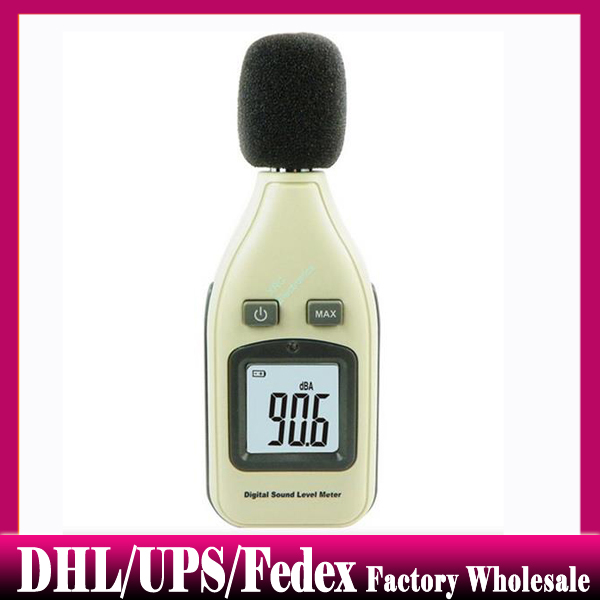 50 pieces GM1351 Digital Sound Level Meter noise tester Sound Level Meter Sound Test the sound volume decibel Free DHL UPS(China (Mainland))
