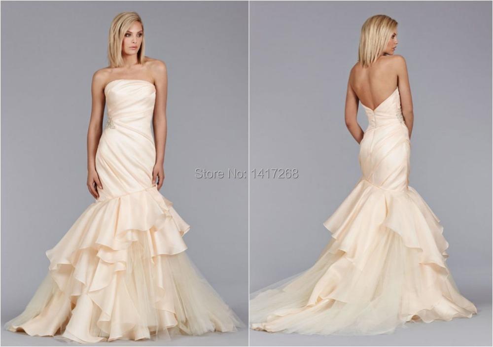 Romantic mermaid backless wedding dress off the shoulder for Strapless and backless wedding dress