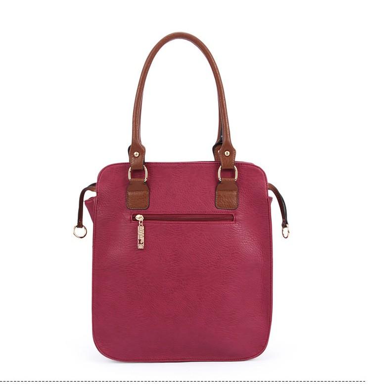 New  women bag high quality elegant composite PU leather handbag fashion  women messenger bags 2015 shoulder bag bolsos BH846 (3)