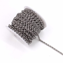 Buy 5 yards/pack Stainless Steel Silver Tone Link-Opened Curb Chains 2/4mm Bulk Necklace Chains Fitting Jewelry Making Materials for $8.20 in AliExpress store