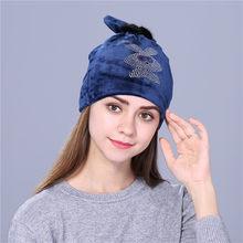 Xthree фланелевая Женская осенне-зимняя шапка с милым котенком, Детские шапочки, шапка для девочек Skullies gorras(China)