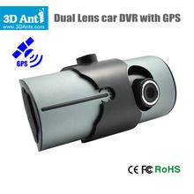 "Hot! Dual Camera Car DVR with GPS G-Sensor 2.7""  LCD X3000 Cam Video Camcorder Cycle Recording Digital Zoom Russian Korean Thai(China (Mainland))"