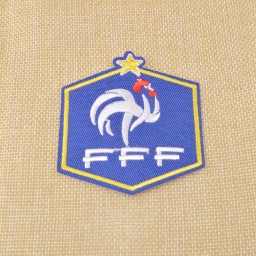 Wholesale&Retail,Embroidery fabric patches w/sticker,France National Football Team.Soccer de Francais/World Champion/French(China (Mainland))