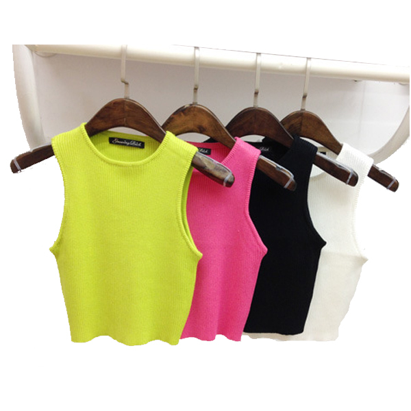 2015 Summer Fashion Women Crop Tops Short Sexy Black White 5 Colors Bustier Crop Top Camisoles For Women Sleeveless Tank Tops(China (Mainland))