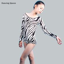 2015 New Children Latin Dance Dresses Girl Latin Dancing Dress Girls Kids Zebra Costumes Competition/Practice Dancewear DQ4080