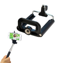 Feitong New Stand Clip Bracket Holder Tripod Monopod Mount Adapter For IPhone Smart Phone Free Shipping&Wholesales(China (Mainland))