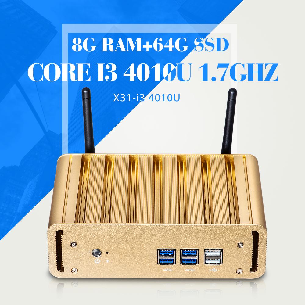Mini computer I3 4010U 8g RAM 64g SSD+WiFi Desktop Mini Pc Cheap Mini Desktop Pc Thin Client Wifi Support Touch Screen(China (Mainland))