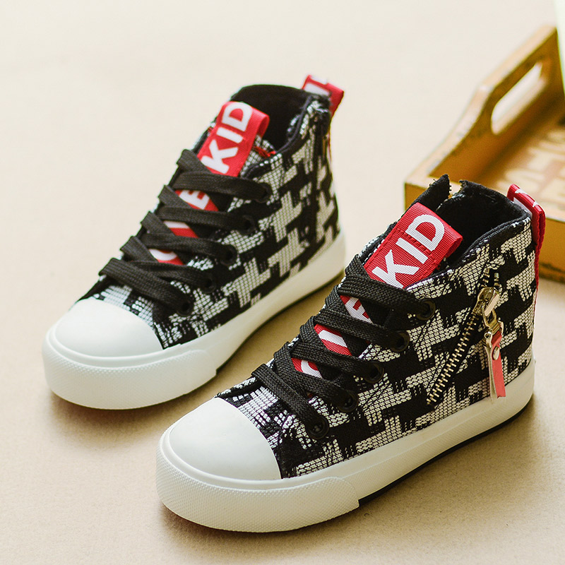 2016 Autnmn Brand Girls Boys Canvas Shoes Fashion Kids Sneakers Mixed Colors Children Canvas Casual Shoes Size 25-37(China (Mainland))