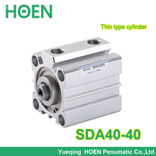 """Buy sda40-40 Airtac type SDA series 40mm bore 40mm stroke 1/8""""PT double action pneumatic air cylinder SDA40*40 for $10.02 in AliExpress store"""