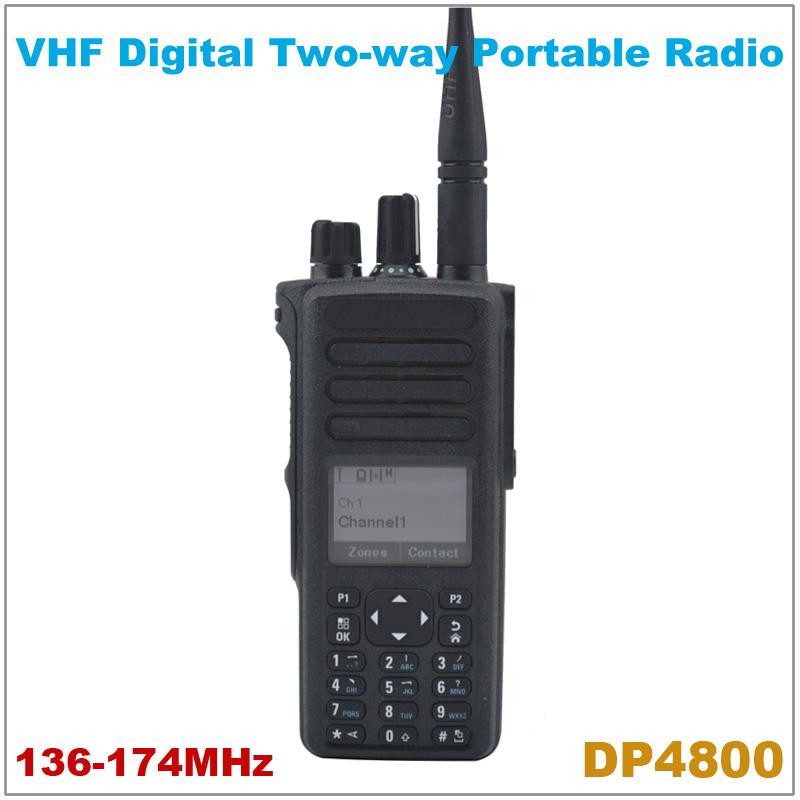 Wholesale Orignal Brand New DP4800 VHF 136-174MHz Digital Portable Two-way Radio Digital DMR Walkie Talkie(China (Mainland))