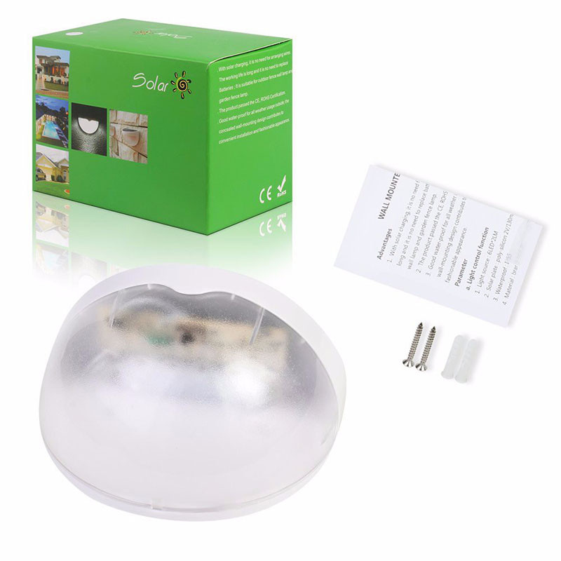 6 LED Outdoor Solar Landscape Lamp Garden Decor Solar Security Lights Wireless Solar Powered Light with Light Sensor
