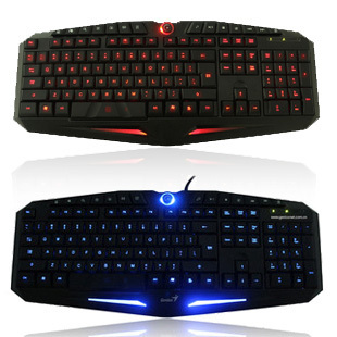 Free Fast HKPOST High Quality brand Genius K9 computer keyborad two colors luminous backlit LED Wired usb gaming keyboard(China (Mainland))