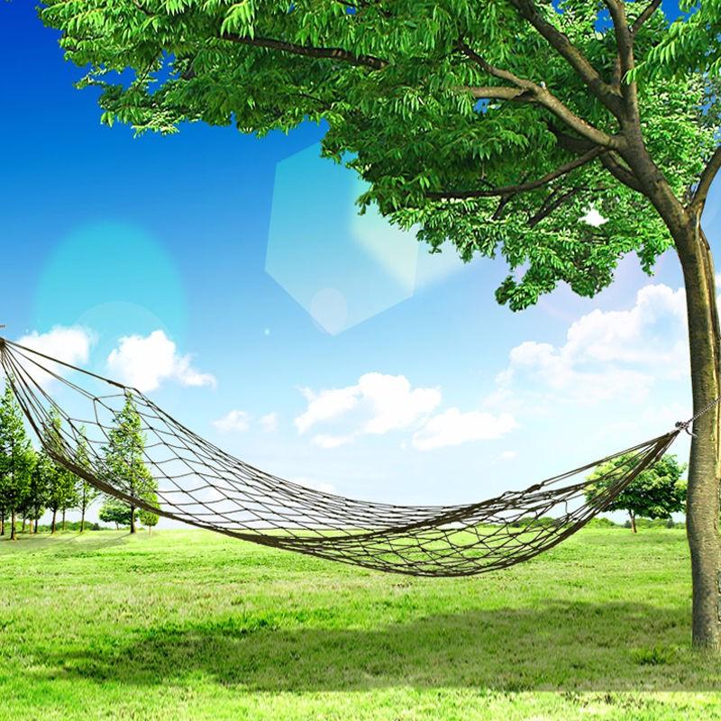 Portable Travel Outdoor Camping Hang Hammock Mesh Net nylon Sleeping Bed Sleeping Hammock Rede De Dormir(China (Mainland))