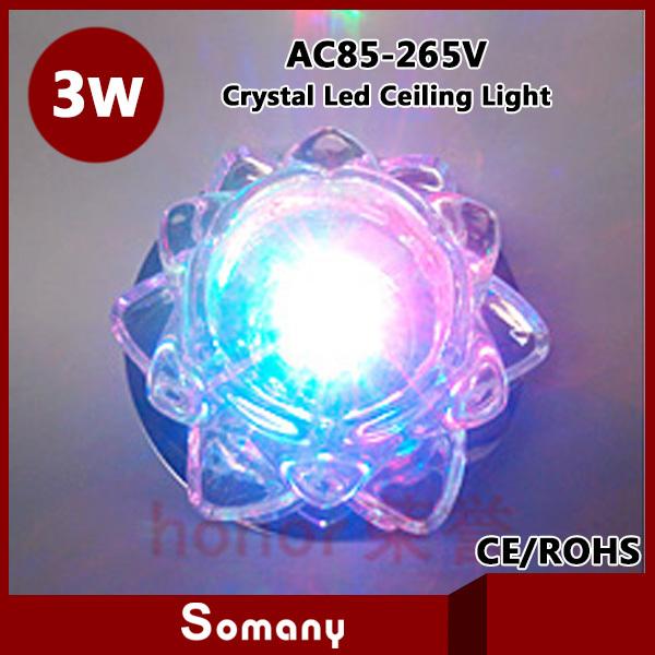 2pcs/lot Indoor Lighting Acrylic K9 Crystal Led Recessed Lamp Kitchen Bedroom Bathroom Cabinet 3W Cristal Down Light Fixtures<br><br>Aliexpress