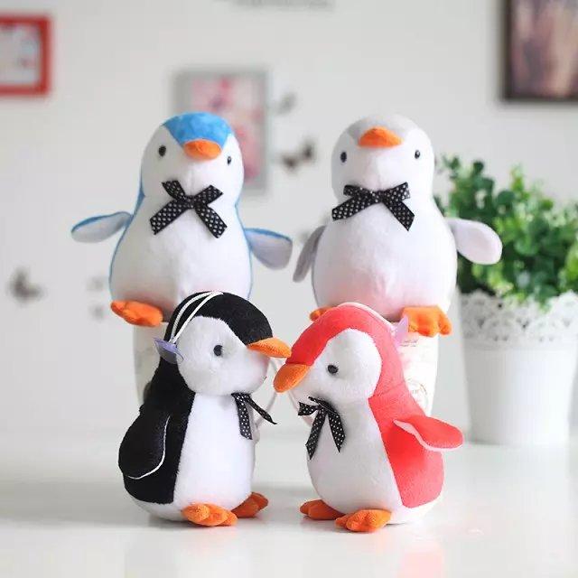 "1pcs 8"" 20cm Funny Cute kawaii bow penguin Plush Toy Soft stuffed animal For girls Children creative birthday gifts(China (Mainland))"