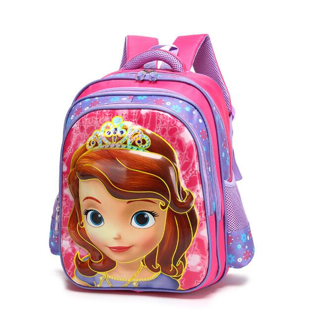 New Arrival Girls Child Cartoon Lovely Dora Backpacks Primary School Student Polyester Snow queen Elsa Children School Bags(China (Mainland))