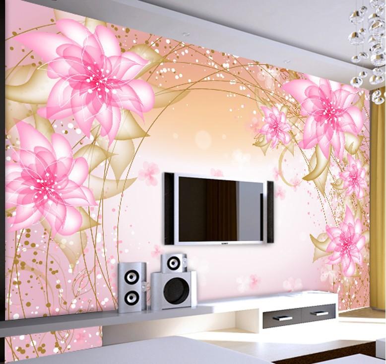 244Фотообои 3д для стен каталог цветы