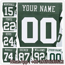 Men's #15 Brandon #22 Matt #24 Darrelle #74 Nick #87 Eric #92 Leonard Green White Green Football Jersey 100% Stitched Customized(China (Mainland))