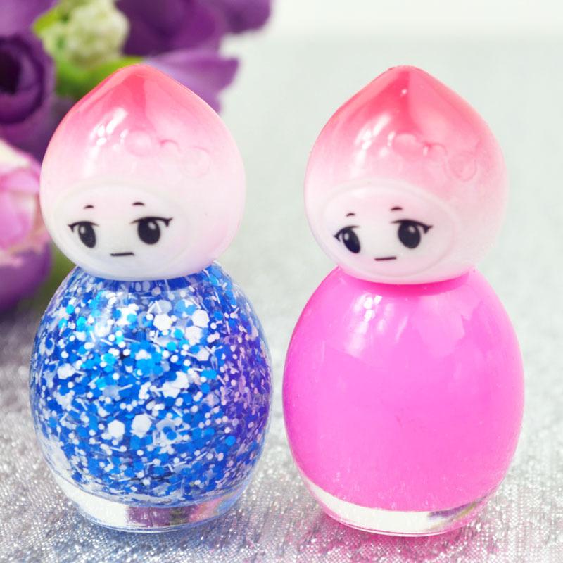 2015 New Arrival Nail Polish Cheap For Glowing peel off Nail Cartoon(China (Mainland))