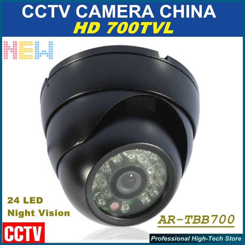 24 LED Color Night Vision Surveillance dome camera Outdoor/Indoor Waterproof hd 700TVL security CCD IR surveillance CCTV Camera<br><br>Aliexpress