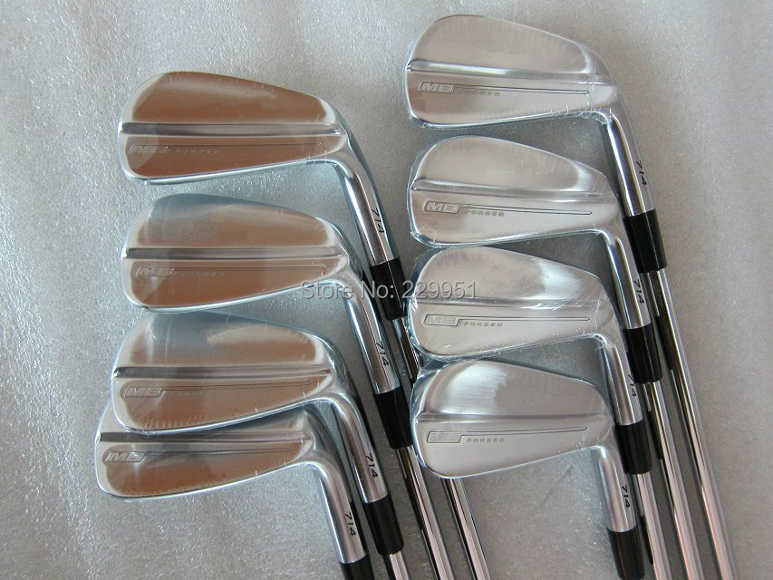 MB 714 Forged Golf Irons(3-9,P 8pcs full set) With Rifle Project X6.5 Steel Shafts Golf Clubs Set and free headcover(China (Mainland))