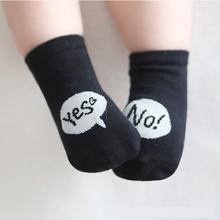 Baby Boys Girls Letter Print Socks Comfortable Kids Children Toddler Cute Floor Socks For 0-4 Years Old Infant Baby(China (Mainland))
