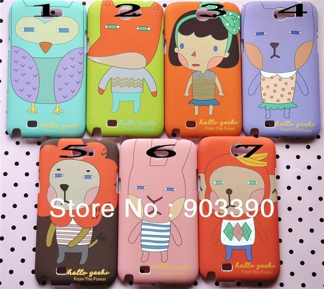 Hot selling! Romane 3D Cute Korea Catoon Romane case for Samsung Galaxy Note2 N7100 retail package 20pcs/lot free shipping DHL