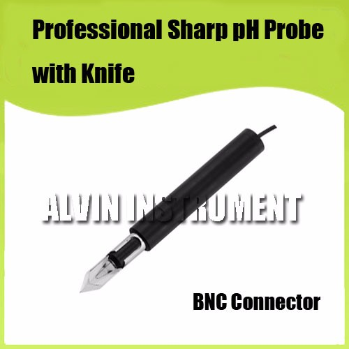 Buy Free Shipping  pH electrode sensor Professional Sharp pH Probe with Knife For measuring meat, cream, fruits, half solid ect. cheap