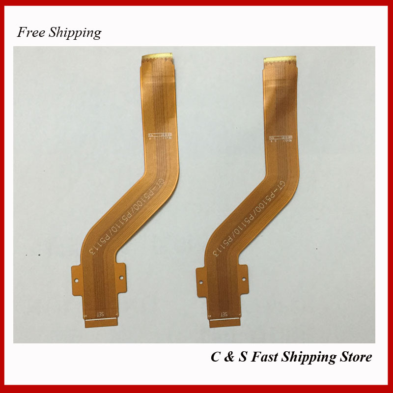 10pcs/lot Original LCD Display Screen Connector Flex Cable for Samsung Galaxy Tab 2 10.1 P5100 P5110 Replacement(China (Mainland))