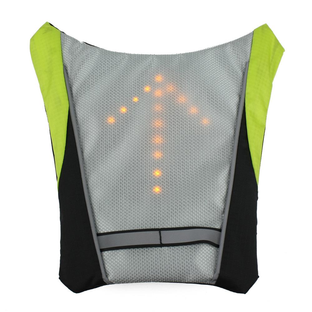 Велоспорт велосипедов безопасности задние лампы велосипед лазерный задний фонарь + из светодиодов цикл рюкзак контрольная лампа велосипедные фары + безопасности светоотражающий жилет