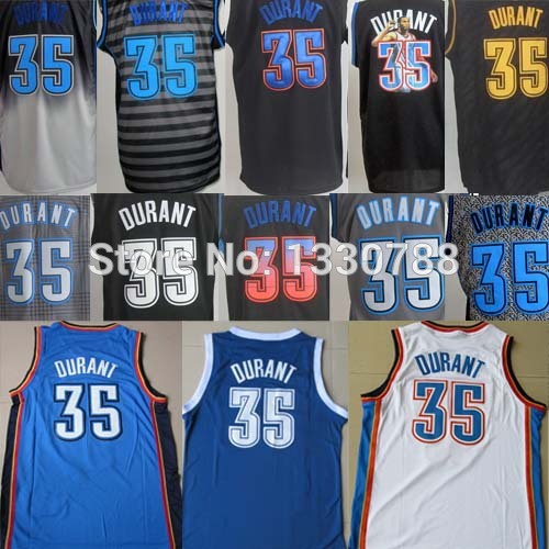 Good Customer reviews Jersey! Cheap Oklahoma City Kevin Durant Jersey #35 Fast Shipping, Black White Blue Grey Embroidery Cheap(China (Mainland))