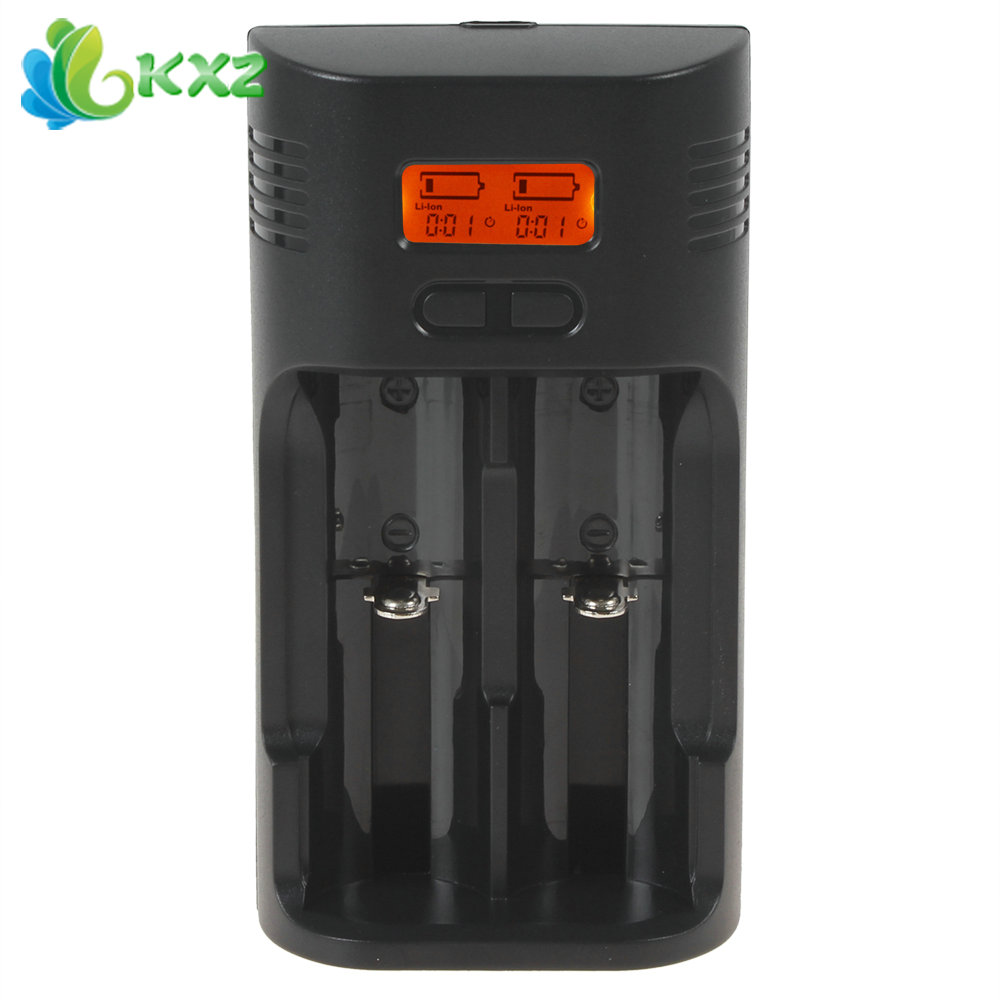 Soshine T2 2-Slot Smart Intelligent Rapid Battery Charger LCD Display 26650 / 18650 / AA / AAA Battery Charger with EU Charger(China (Mainland))