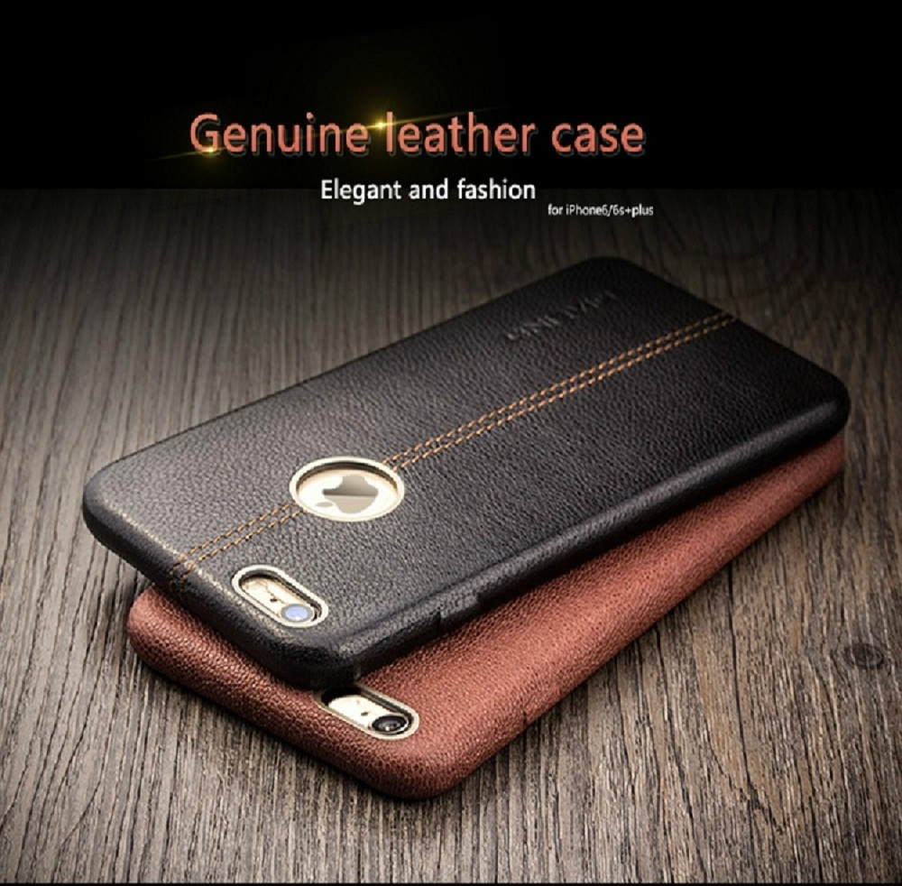 For iphone 6 & 6s Case QIALINO Fashion Genuine Leather phone case for iphone6 case iphone6s case 6plus cover for 4.7/ 5.5inch(China (Mainland))