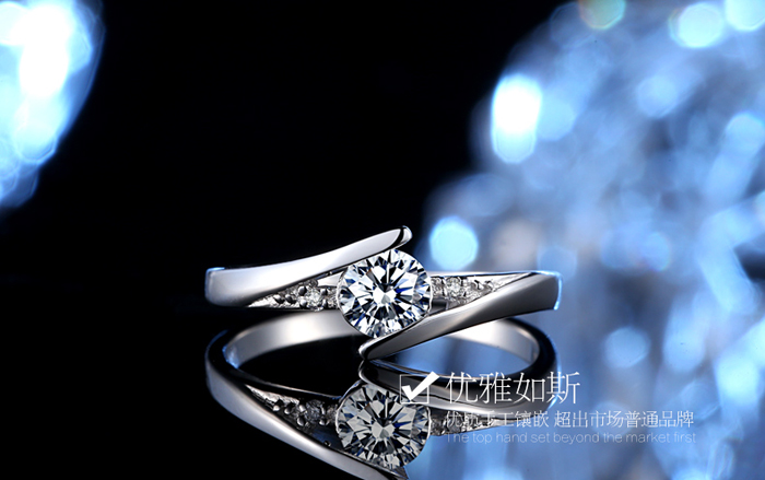 Sent Certificate of Silver! YINHED 100% Pure 925 Sterling Silver Ring Set Luxury 0.5 ct CZ Diamant Wedding Rings for Women ZR327